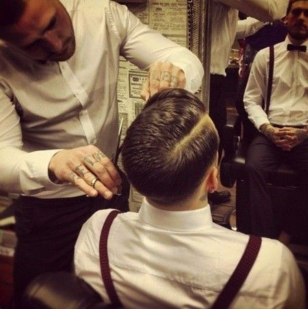 tattoo | Haircuts for men, Classic barber shop, Hair and ...