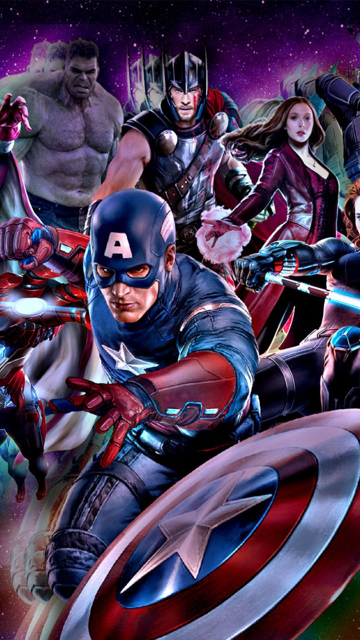 The Avengers, marvel comics, superhero, 720x1280 wallpaper