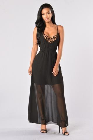 Ring of Fire Dress - Black
