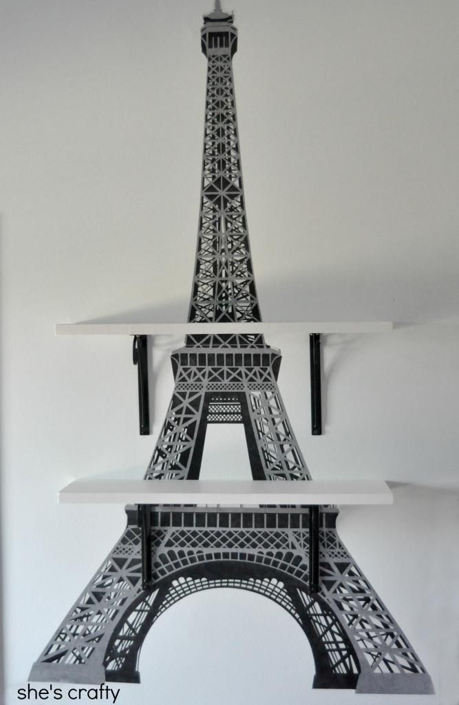 eiffel tower giant wall decals - Eiffel Tower Decor For Bedroom