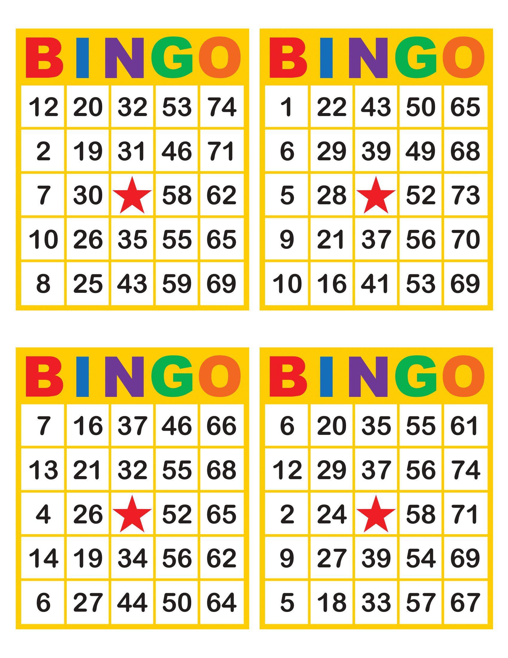 Bingo Cards 1000 Cards 4 Per Page Immediate Pdf Download Etsy In 2020 Bingo Cards Bingo Card Generator Bingo