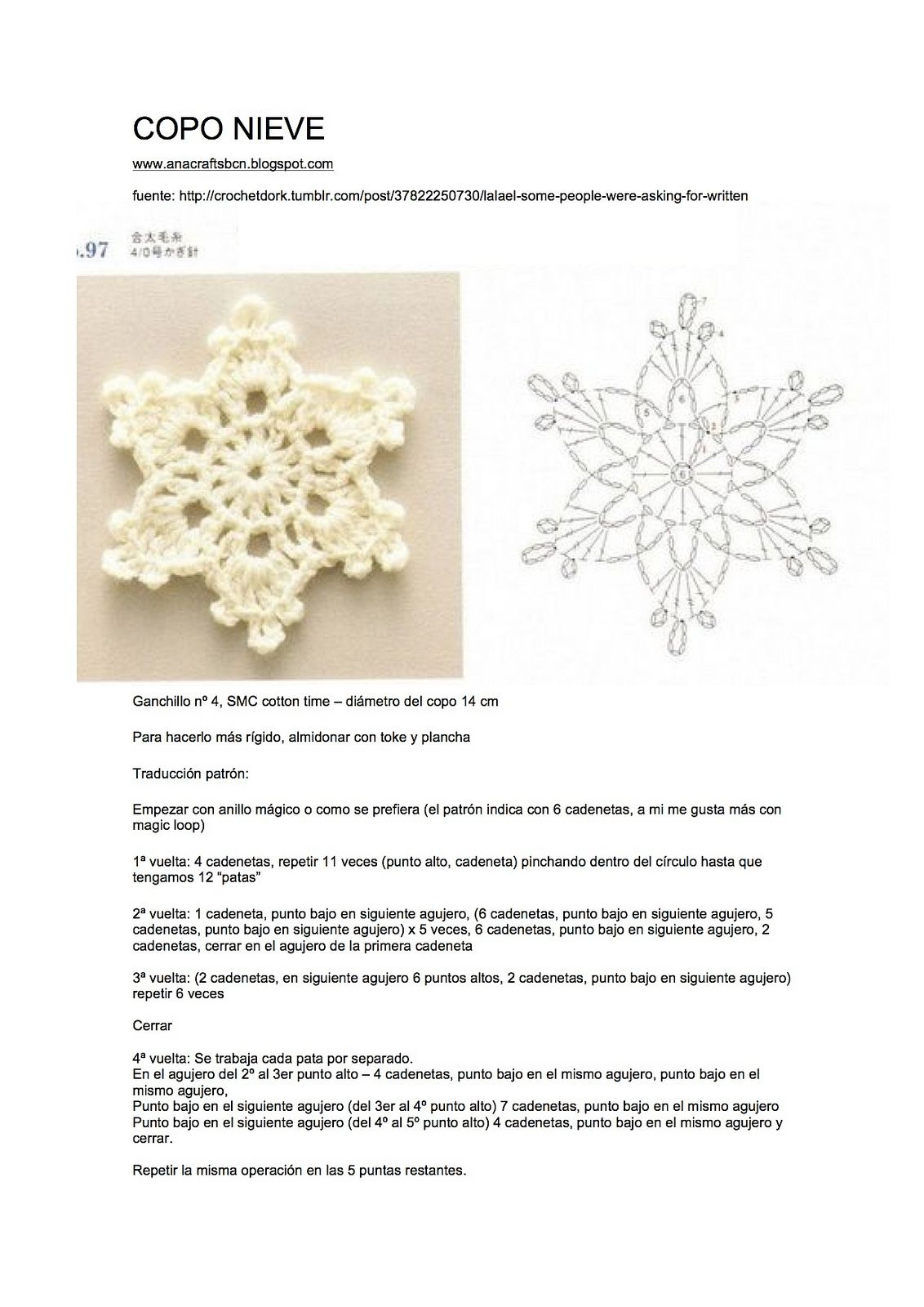 patron crocheted snowflake | Snowflakes and stars | Pinterest ...