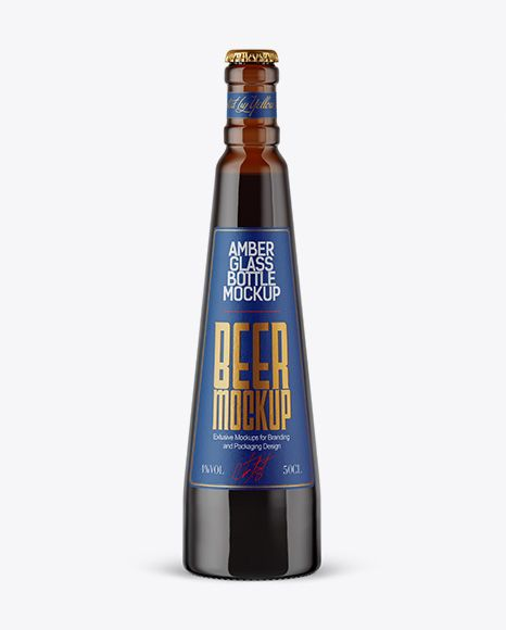 Download Free PSD Mockup Amber Glass Stout Beer Bottle Mockup ... Free Mockups