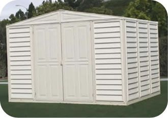 Woodbridge 10 5 X 8 Duramax Vinyl Outdoor Storage Shed Kit 00221 1m Vinyl Sheds Storage Shed Kits Outdoor Storage Sheds