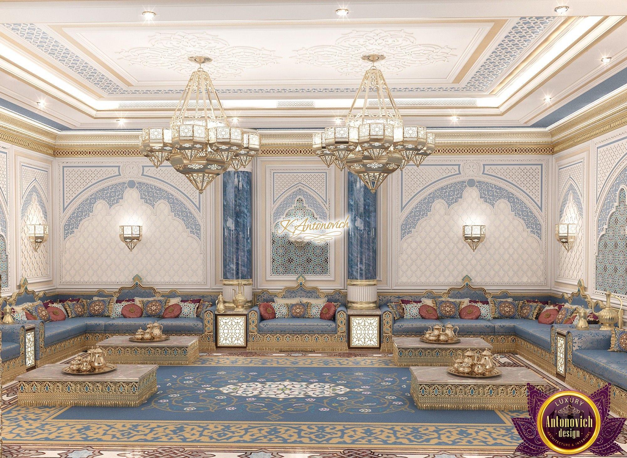 Luxury Arabic Majlis Architecture In 2019 Mimari