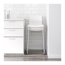 Ikea GLENN Bar stool, black, chrome