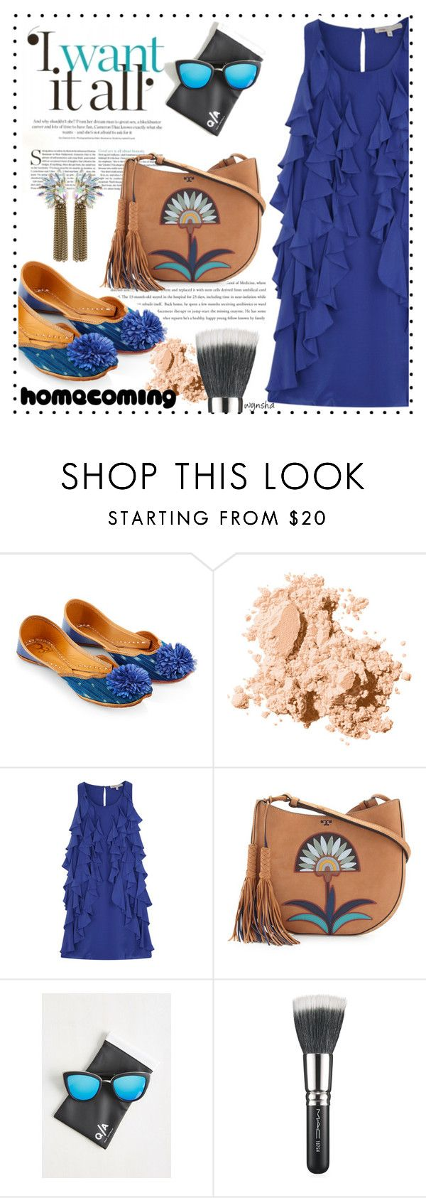 """""""Homecoming Style #2"""" by wynsha ❤ liked on Polyvore featuring Monsoon, Bobbi Brown Cosmetics, Tory Burch, Quay, MAC Cosmetics, Homecoming, polyvorecontest, polyvoreset and PolyvoreMostStylish"""