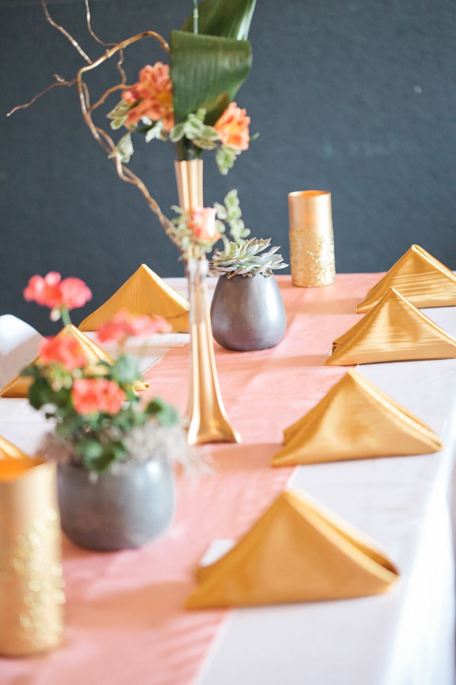 Photography: Christine Foehrkolb - www.christinefoehrkolb.com  Read More: http://www.stylemepretty.com/2015/05/19/colorful-pink-gold-illinois-wedding/