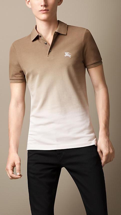 Burberry Brit Dip-Dye Polo Shirt   My board in 2019   Polo, Mens ... 309b3ebc1e7