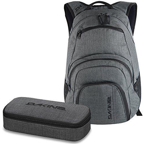 37fc6109e245d DAKINE 2er SET Laptop Rucksack CAMPUS SM + SCHOOL CASE Mäppchen Carbon