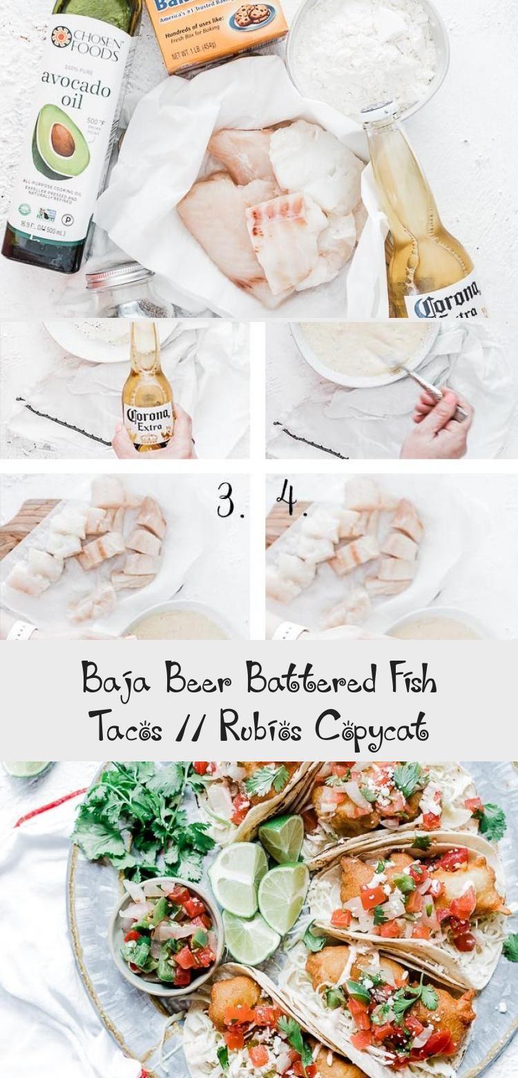 Baja Beer Battered Fish Tacos Rubios Copycat Beer Battered Fish Tacos Battered Fish Fish Tacos