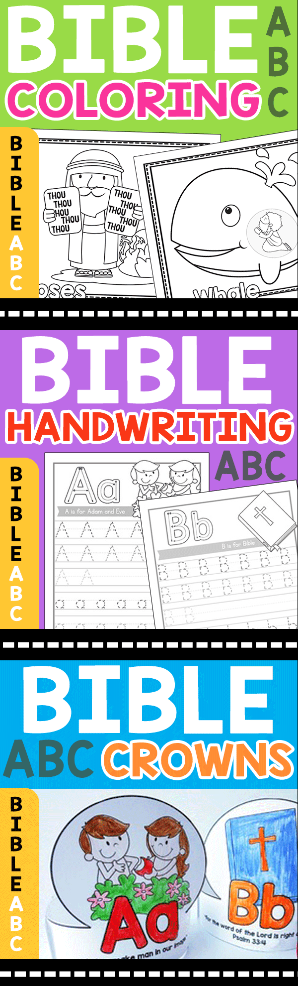 Bible Coloring Pages, Bible Handwriting Worksheets, Bible Crowns ...