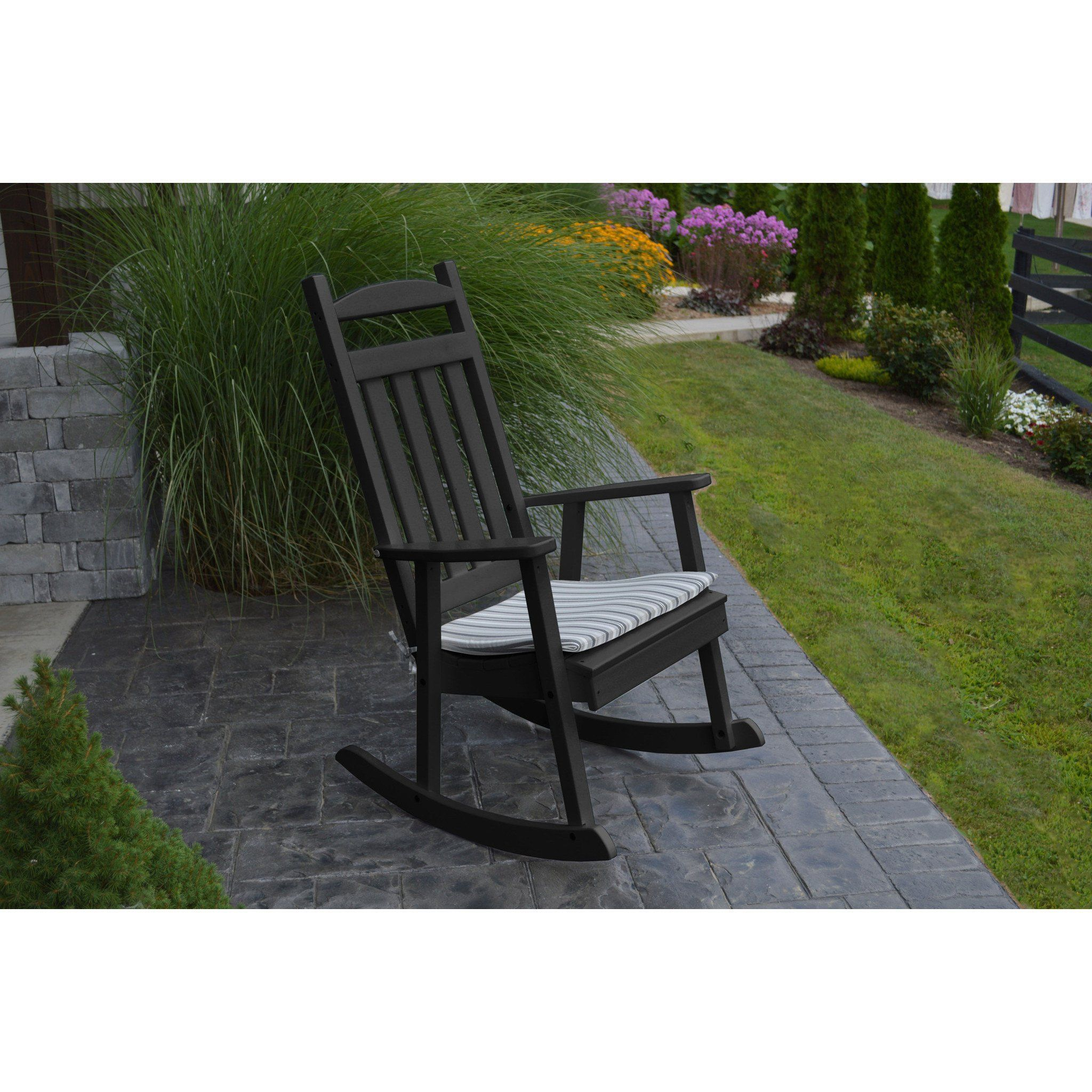 Exceptional Au0026L Furniture Company Classic Recycled Plastic Porch Rocking Chair