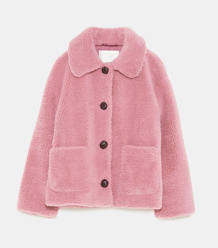 Zara Fleece Jacket Tuch Modestil Zara Mode
