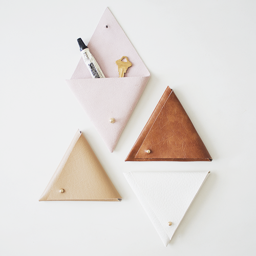 How to Make a Triangle Leather Pouch