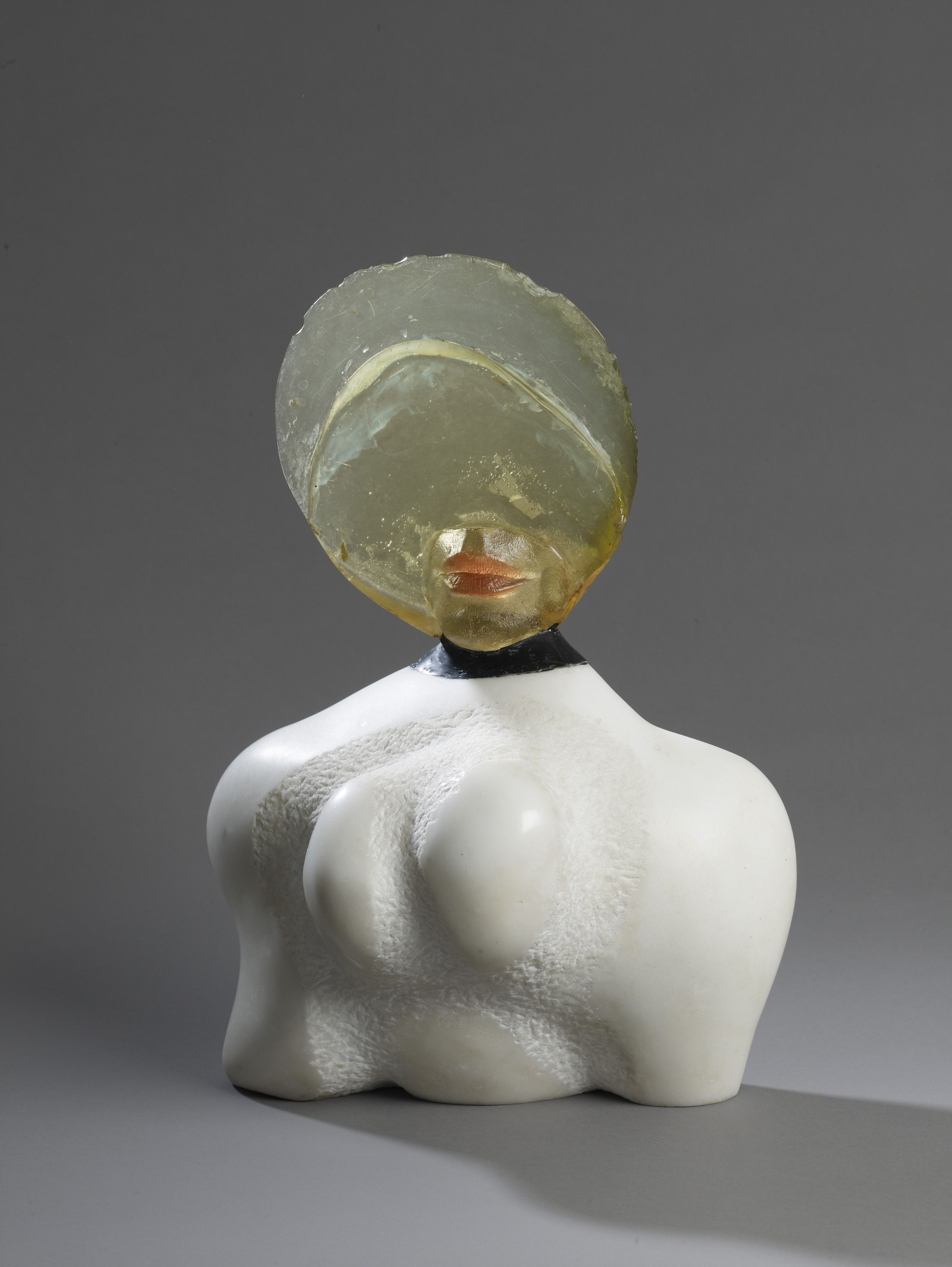 Alina Szapocznikow, Autoportret I (Self-Portrait I), 1966. Marble ... for Polyester Resin Sculpture  155sfw