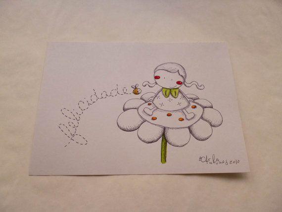 Um dos meus desenhos/One of my drawings
