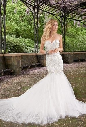92e6de8cf2f Camille La Vie mermaid wedding dress features  rhinestone