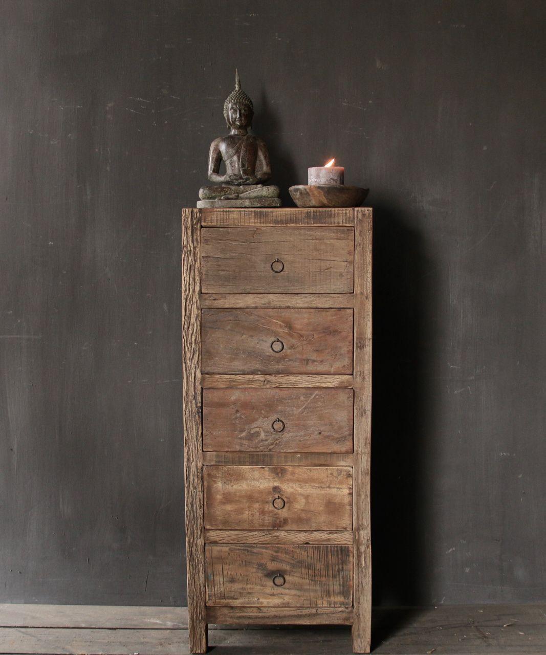 Betere Oud houten kastje ,nachtkastje,landelijk kastje, hoffz kastje GU-66
