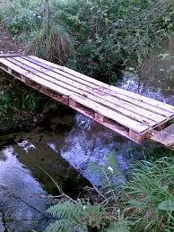 Pallet bridge. | Outdoor, Pallet diy, Outdoor decor