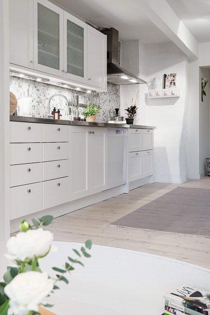 revestimiento cocina mosaico grises y blancos decoración decoración