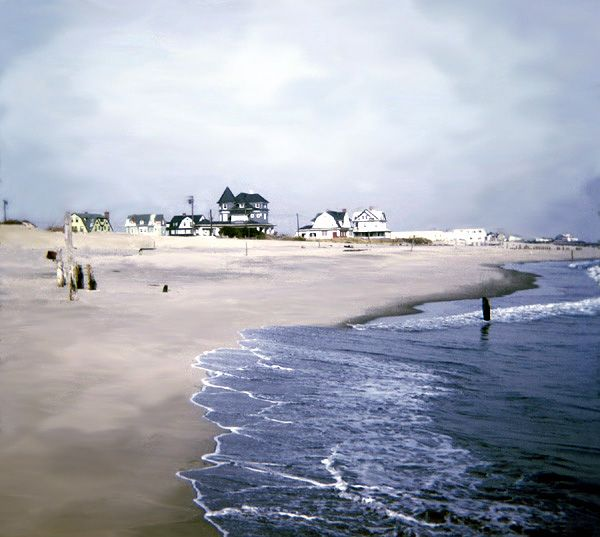 1969 35mm Slide Cleaned Of Mold And Grime Color Restored Of What Was To Become Seven Presidents Beach Long Branch Nj Photo Restoration Long Branch Beach