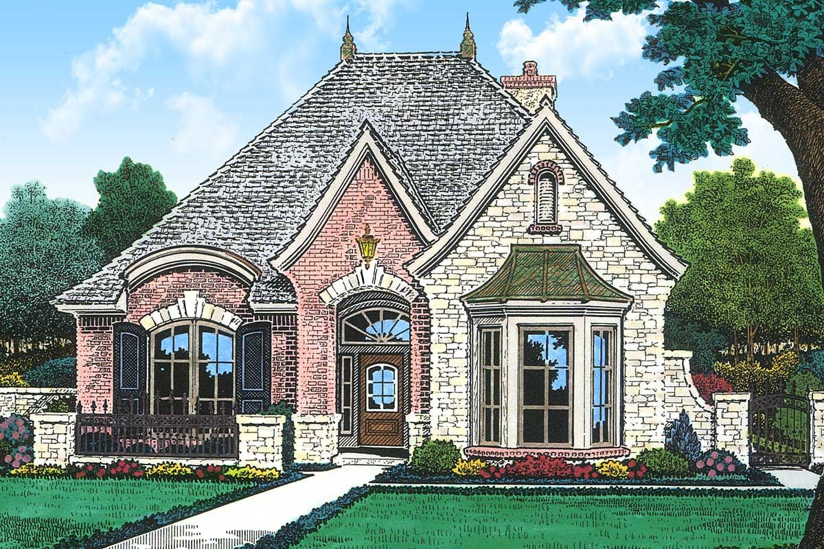 Plan 48033fm Petite French Cottage In 2020 Country Style House Plans French Country House Country Cottage House Plans