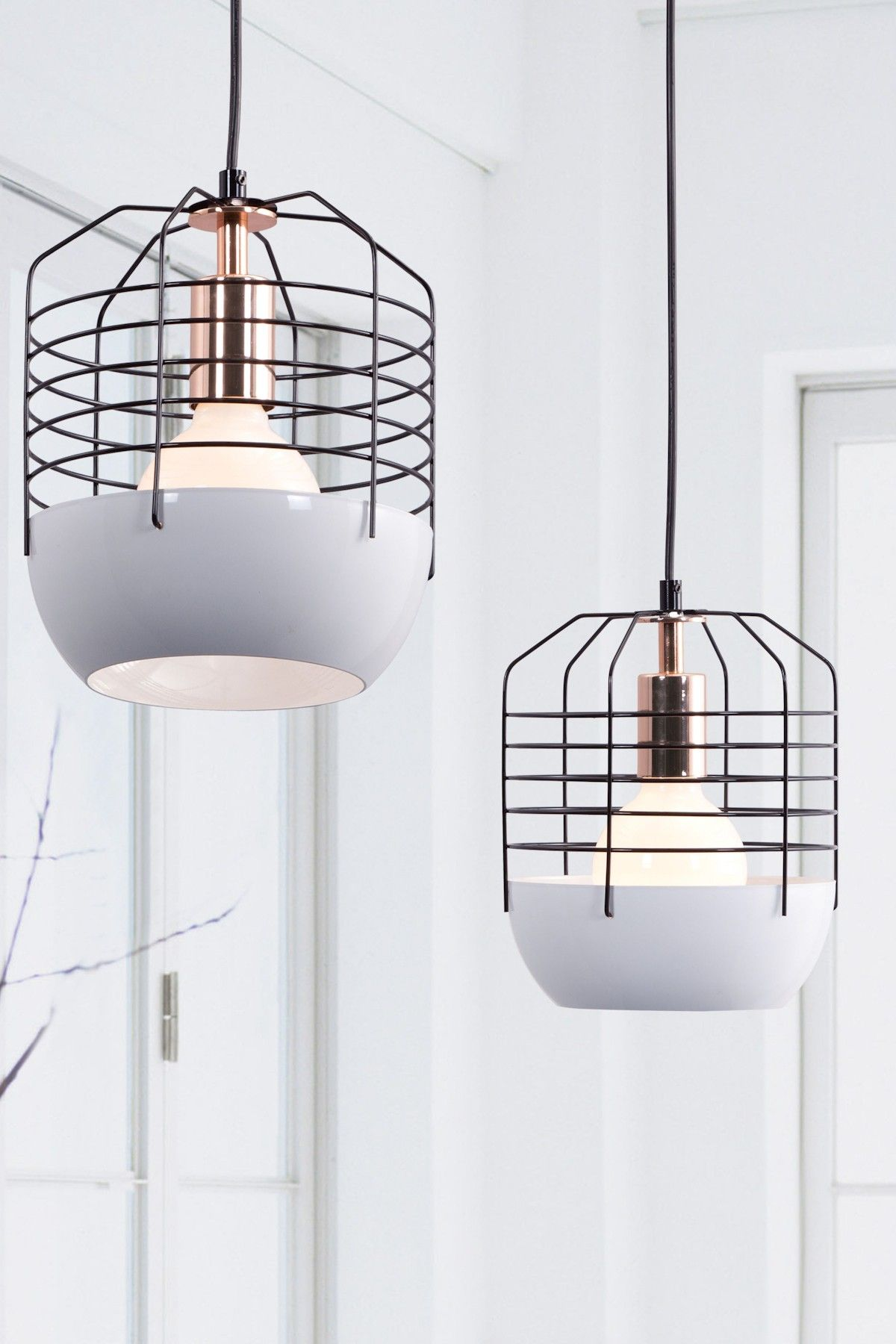 Mod white cage lamp (home, decor, lighting, lamp) | Light Me Up ...