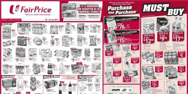 Ntuc Fairprice Singapore Your Weekly Saver Promotion 20 Jul 26 Jul 2017 Savers Buying Groceries 10 Things