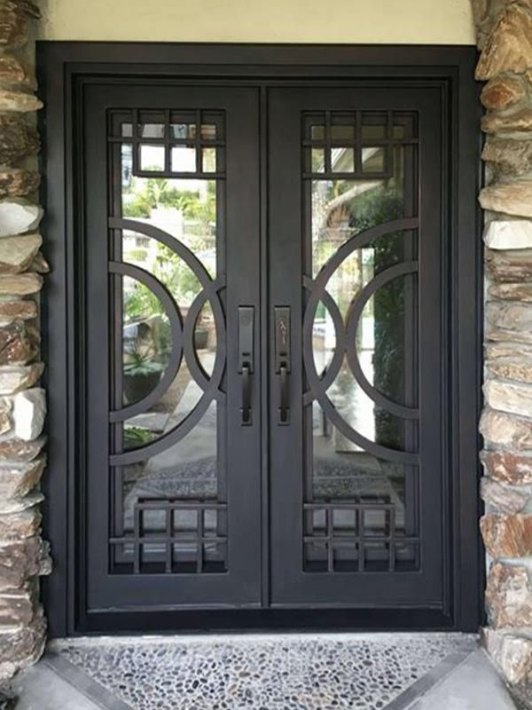 Double Door 82 With Images Iron Entry Doors