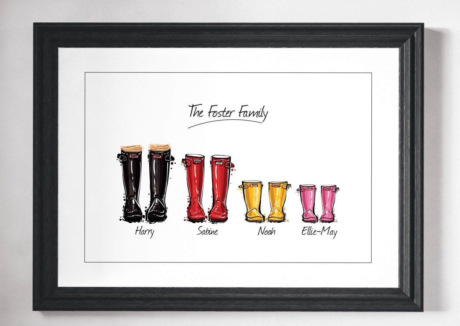 Superior Family Picture Gift Ideas Part - 13: Custom Family Print Gift Personalised Family By NordicDesignHouse