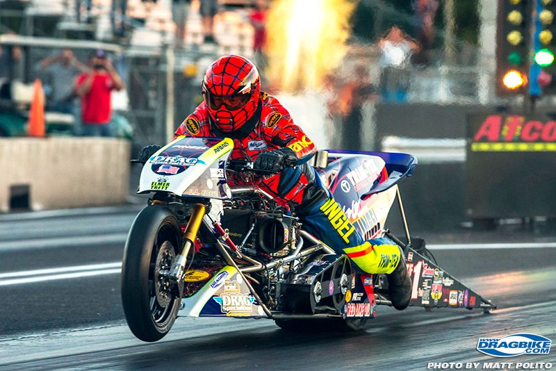 Larry Spiderman Mcbride Top Fuel Motorcycle Motorcycle Drag