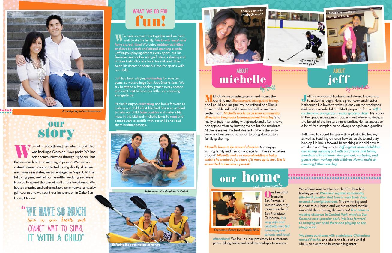 Our Chosen Child Adoption Profile Sample- A Birthparent
