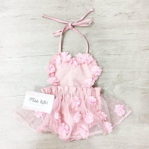 dda102c5c8b Baby girl pink romper