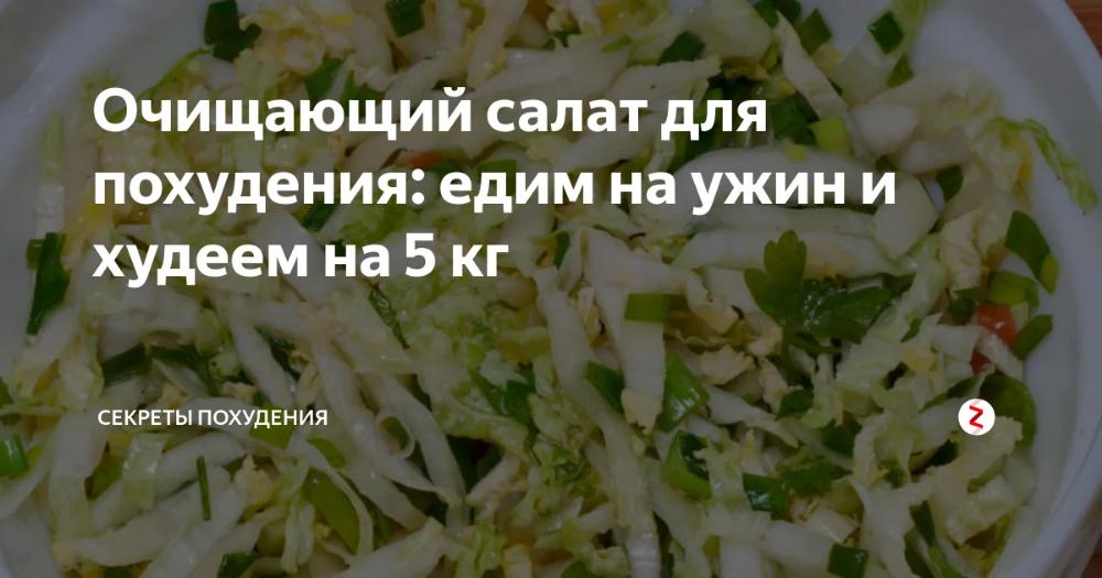 салат для похудения результаты