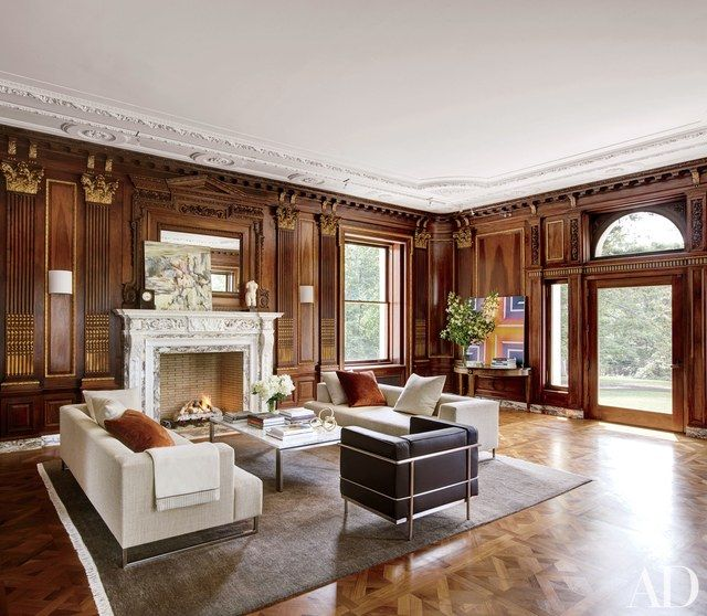 12 Rooms Every Classic Design Aesthete Will Love  Architectural Fascinating Living Rooms With Fireplaces 2018