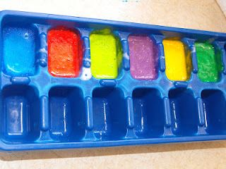 baby shampoo, corn starch, and food coloring...bath paints!