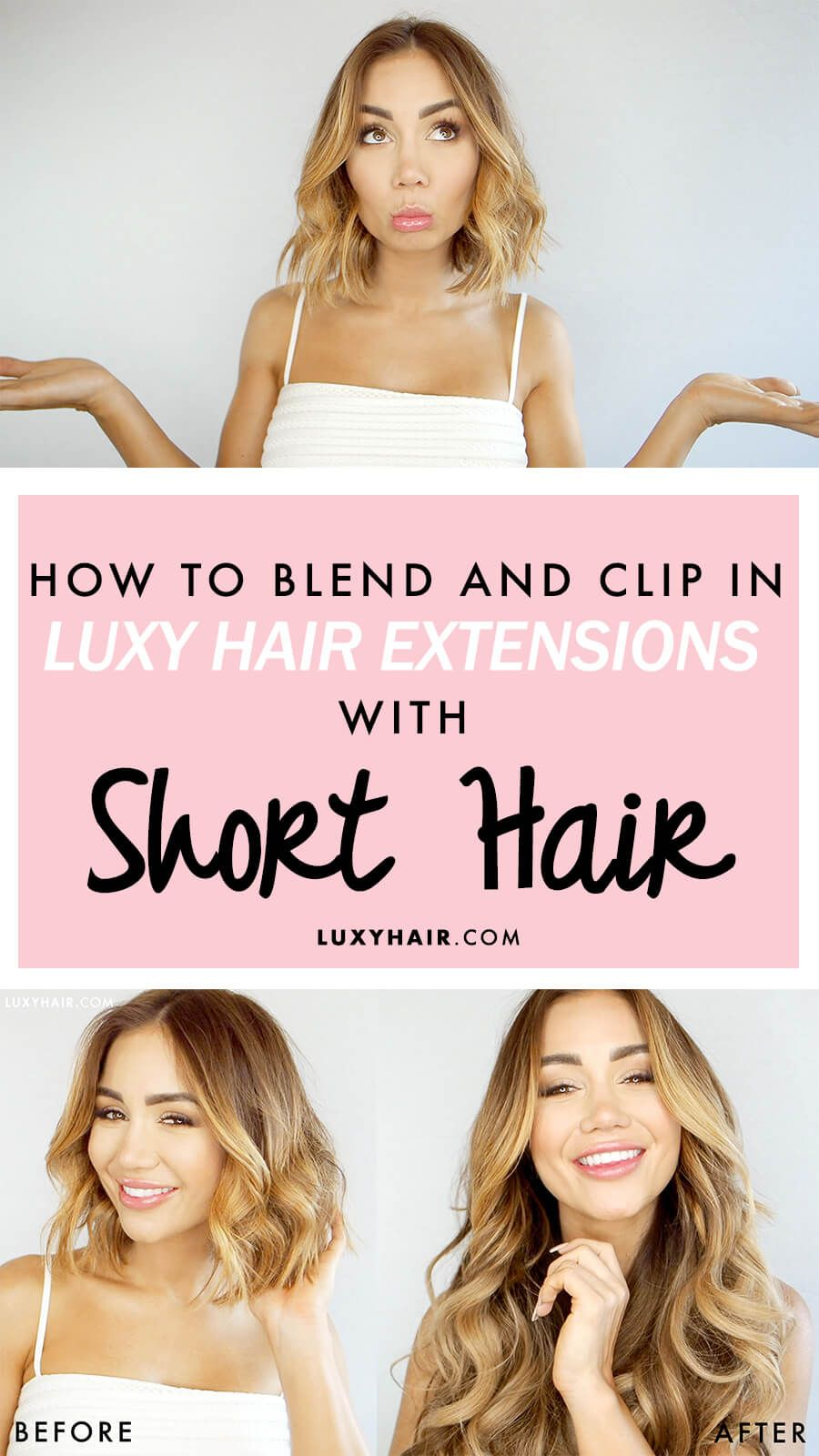 How To Blend And Clip In Hair Extensions With Short Hair Hair
