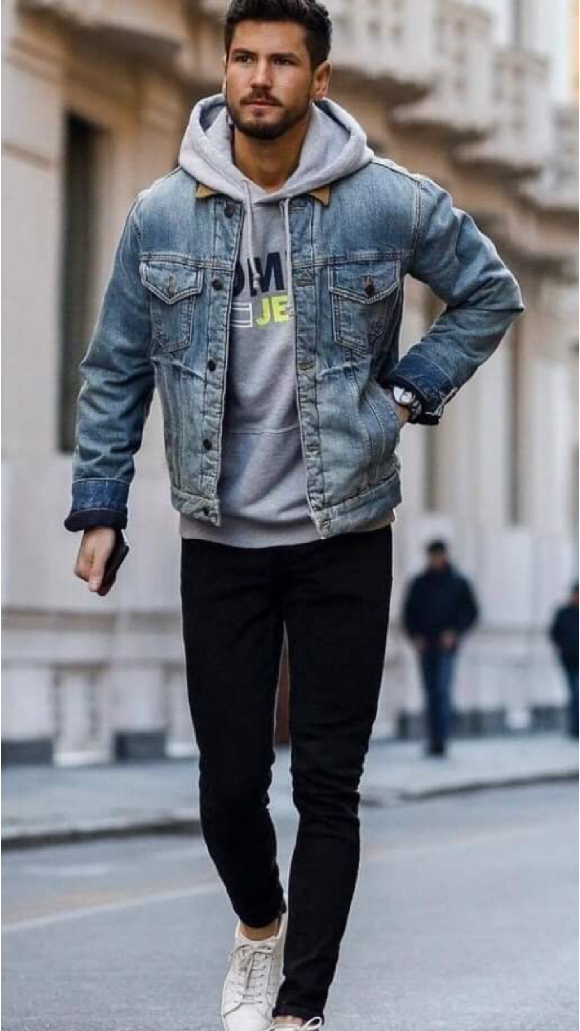 12 Amazing Hoodie Outfits For The Spring Mr Streetwear Magazine Denim Jacket Men Outfit Jean Jacket Outfits Men Mens Joggers Outfit [ 2048 x 1152 Pixel ]