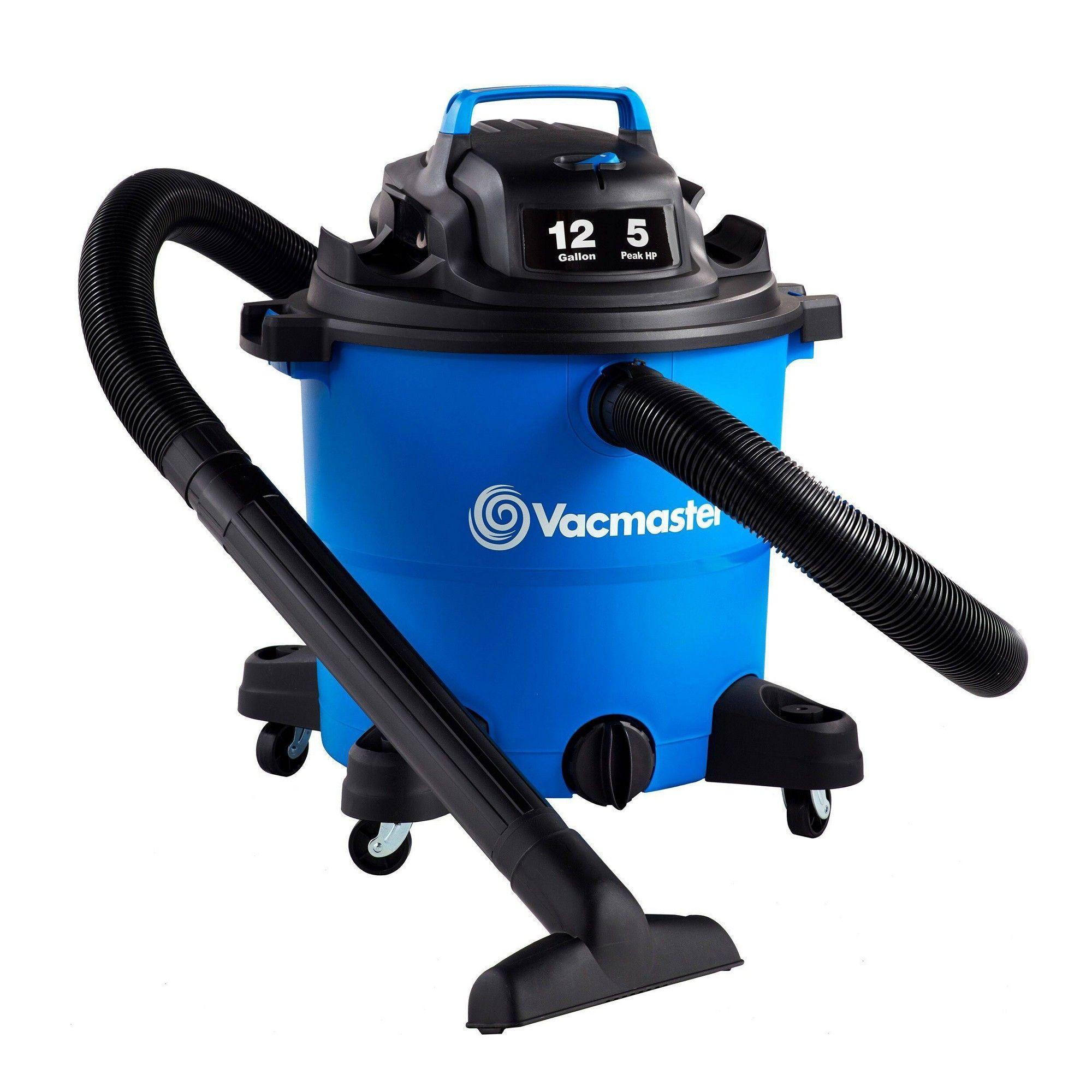 Vacmaster 12gal 5 Peak HP Wet/Dry Vacuum Cleaner Wet dry