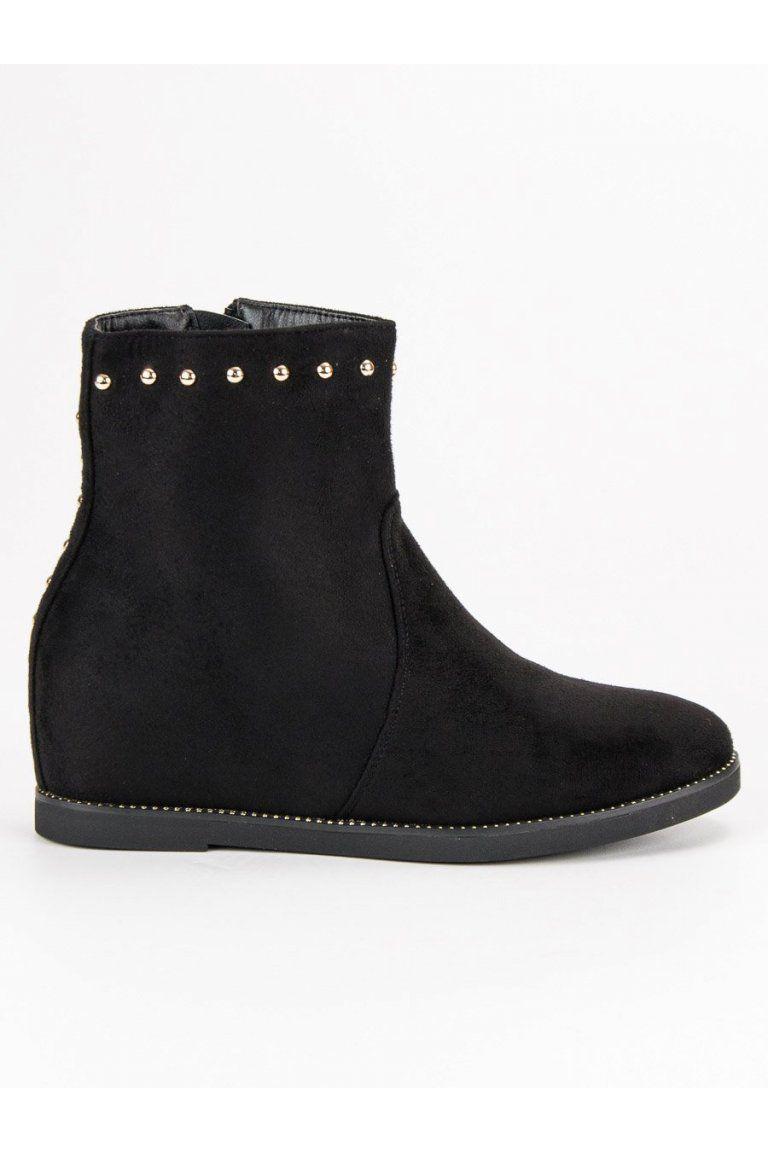 Semišové topánky členkové čižmy na klinovom opätku Seastar ... 6910a85f7df