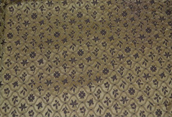 Vintage Brocade Fabric Panel Remnant Metallic Thread Gold Plum Purple