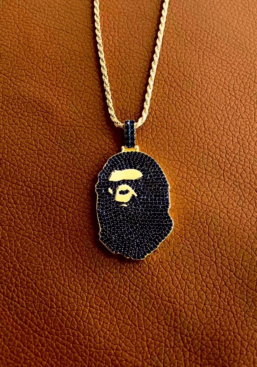 Iced out bape necklaces are now live on jouteriegonin