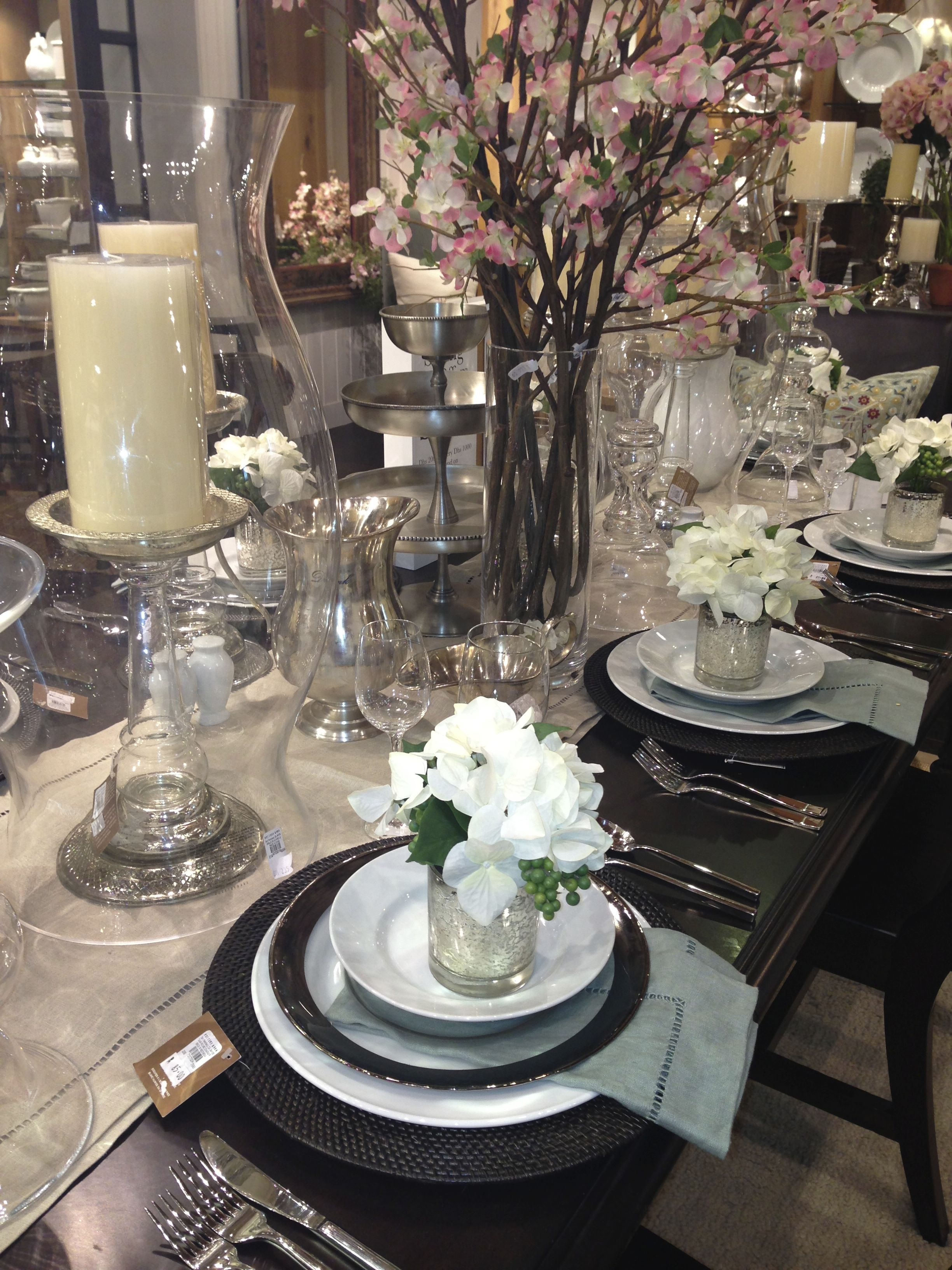 Spring Table Setting Pottery Barn Entertainment