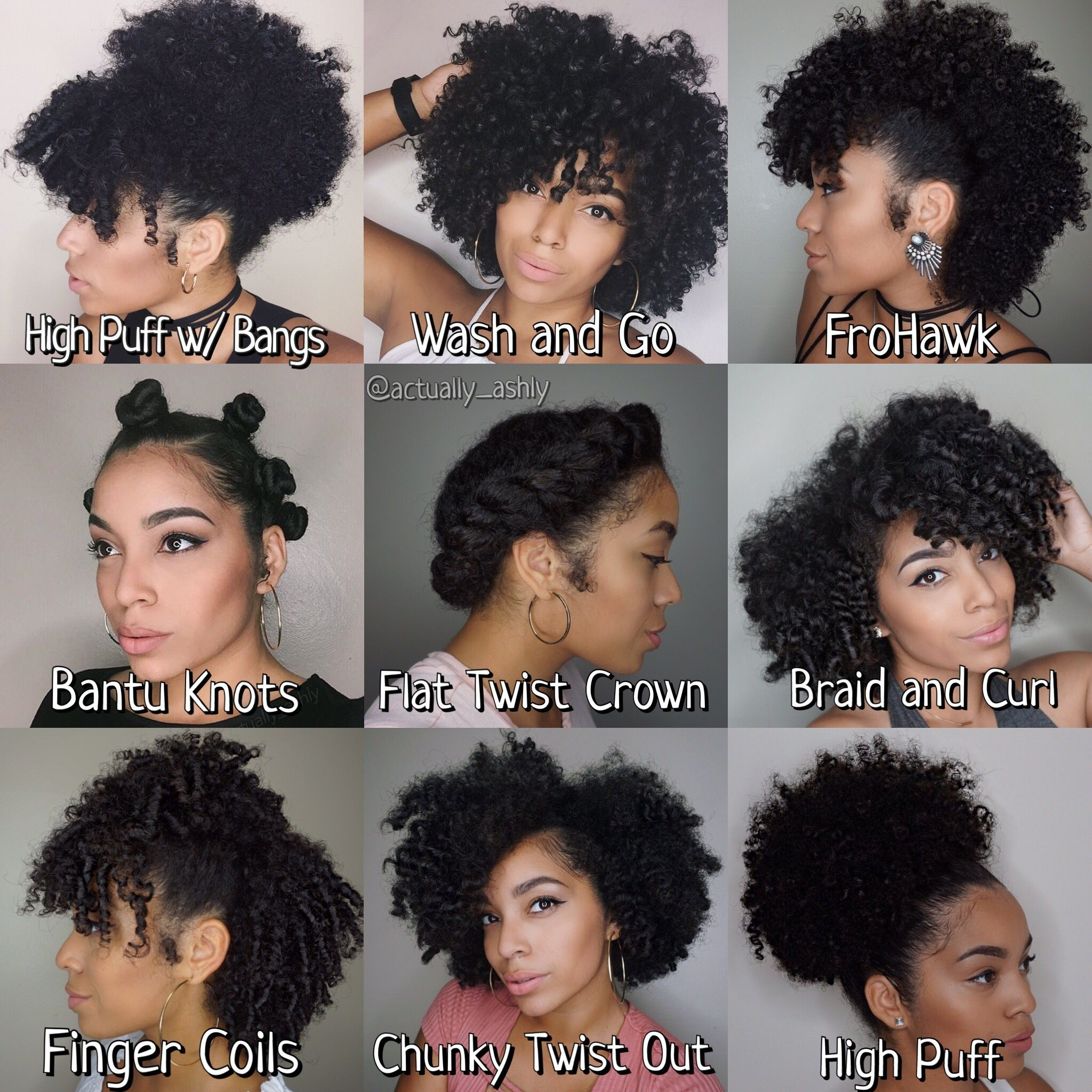 Natural Hair Styles …