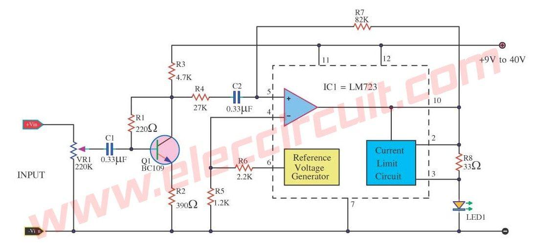 simple peak level indicator circuit using lm723 meters \u0026 detectors