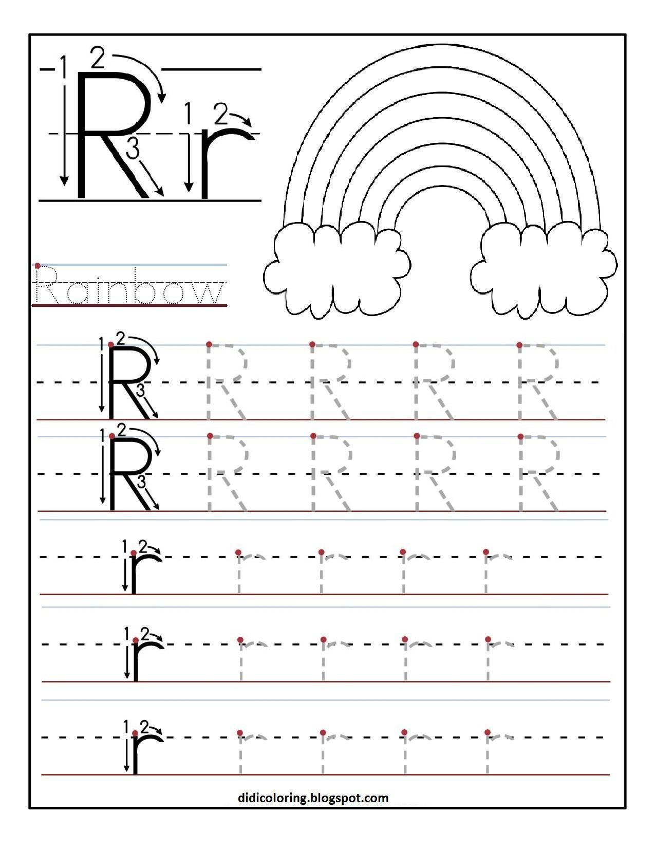 38 Letter R Preschool Printable Worksheets En
