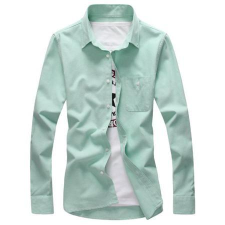 Pocket Plus Size Long Sleeve Shirt