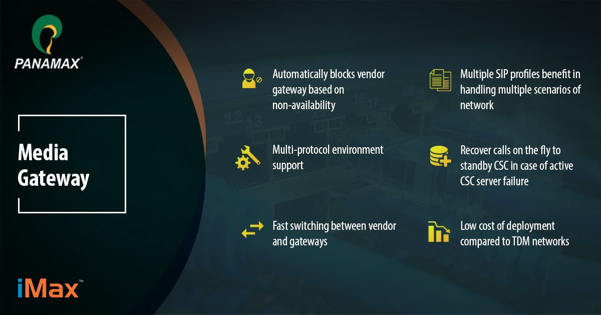 Panamax SIP #Mediagateway converts media streams between