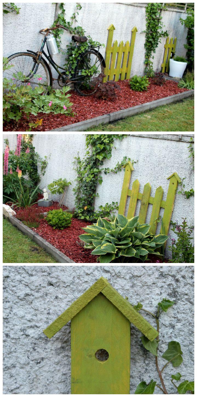 Gartendekoration aus Paletten. Repinned by www.parkett-direkt.net